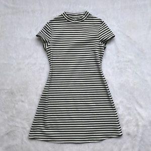 Free People Gray Striped Mini Dress